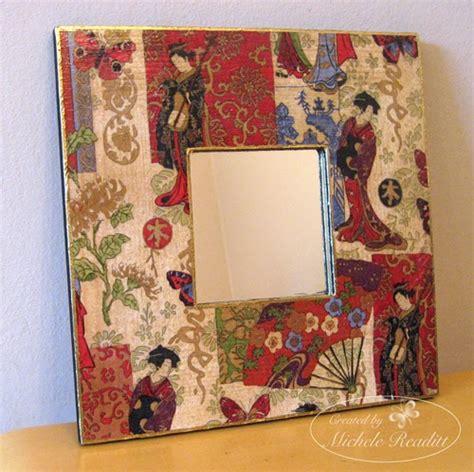 Decoupage Mirrors - miche s niche napkin decoupage