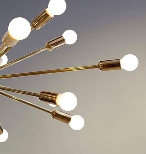 Designer Light Fittings Retro Style Brass Sputnik Light Fittings At Inscapes Design