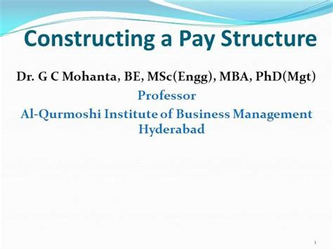 Business Administration Mba Phd Mba Jd Gc by Constructing A Pay Structure Authorstream