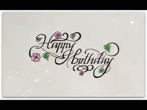 how to write in cursive happy birthday for beginners calligraphy