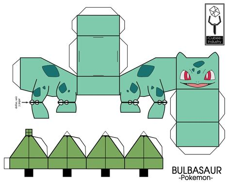 Bulbasaur Papercraft - cubeecraft pokeballs images images