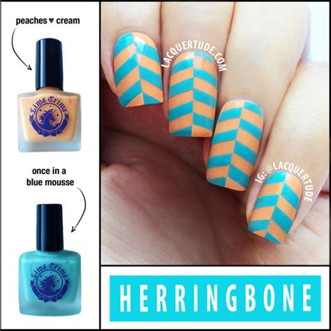 herringbone nail art tutorial herringbone nail art tutorial feat lime crime peaches