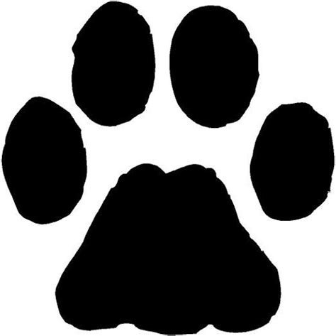 Picture Of A Paw Print Cliparts Co Paw Print Template
