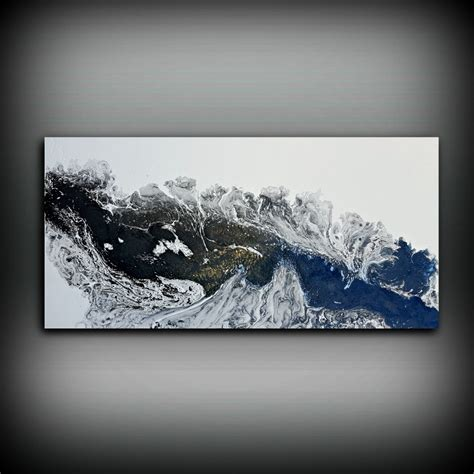acrylic painting ideas black and white black and white painting 24 x 48 acrylic painting canvas