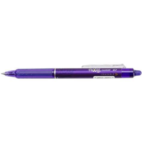 Ballpoint Pilot Frixion Clicker 07 Erasable Pen Biru pilot frixion purple clicker erasable rollerball gel pen 07 craftie