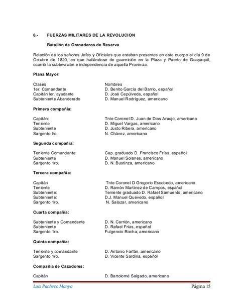 Resumen 9 De Octubre De 1820 by 9 De Octubre De 1820 La Independencia De Guayaquil