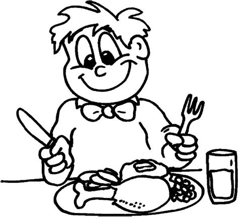 eating breakfast coloring pages www imgkid com the