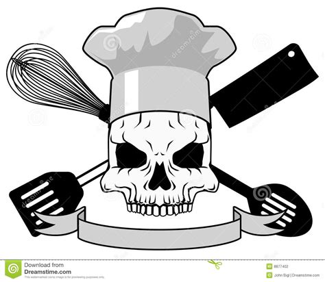 death chef tattoo design stock photography image 8877402