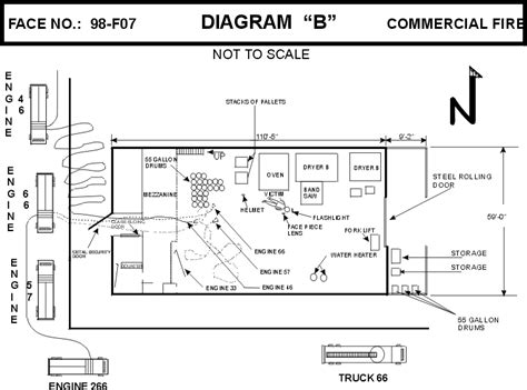 wh floor plan fire fighter fatality investigation report f98 07 cdc niosh