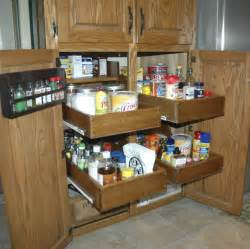 Pull Out Pantry Shelves Diy by Pull Out Cabinet Drawers Do It Yourself Home Projects