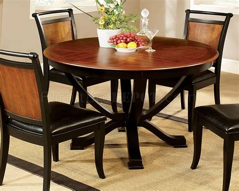 two tone dining table set cm3034rt salida ii 5pc dining set in two tone w table