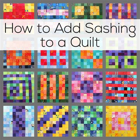 Adding Borders To Quilts by How To Add Sashing To A Quilt Shiny Happy World
