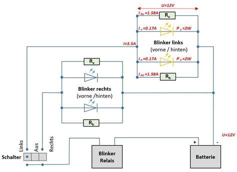 Motorrad Led Blinker Widerstand Berechnen macht unter der haube led blinker widerstand berechnen