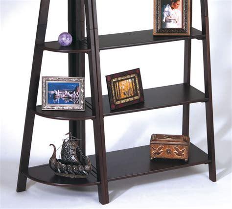Corner Shelf Espresso by 2 Set Espresso Wood Ladder Book Corner Shelf