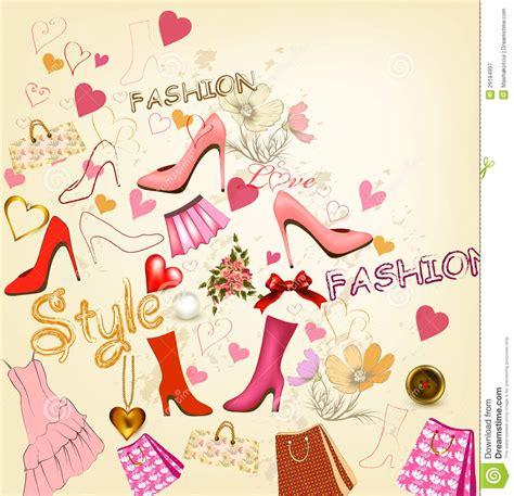 fashion vector background pattern fashion stylish background royalty free stock photography