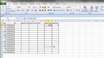 Excel Template For Timesheet by 8 Timesheet Template Excel Timeline Template