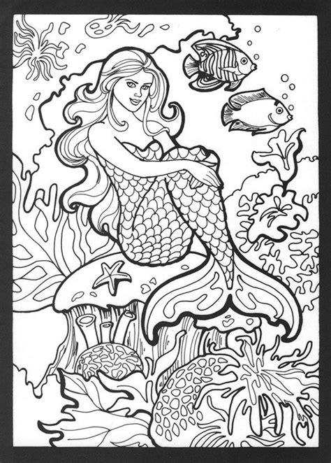 coloring pages of real mermaids kleurplaat zeemeermin realistic mermaid coloring pages