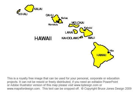 printable map hawaii map hawaiian islands printable