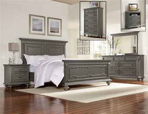 grey wooden bedroom furniture homelegance marceline bedroom set grey 1866 bedroom set