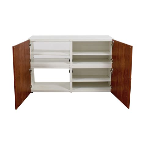 ikea wood 49 off ikea ikea modern white and wood media unit storage