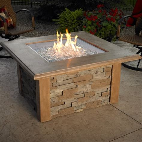 gas patio table pit table square