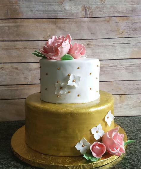 pink bridal shower cake ideas pink and gold bridal shower cake cakecentral