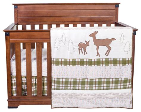 rustic crib bedding deer lodge 3 piece crib bedding set rustic baby