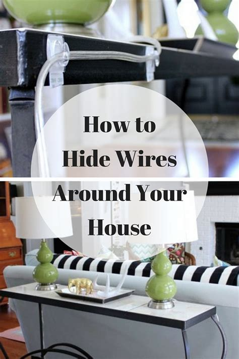 how to hide wires around the house