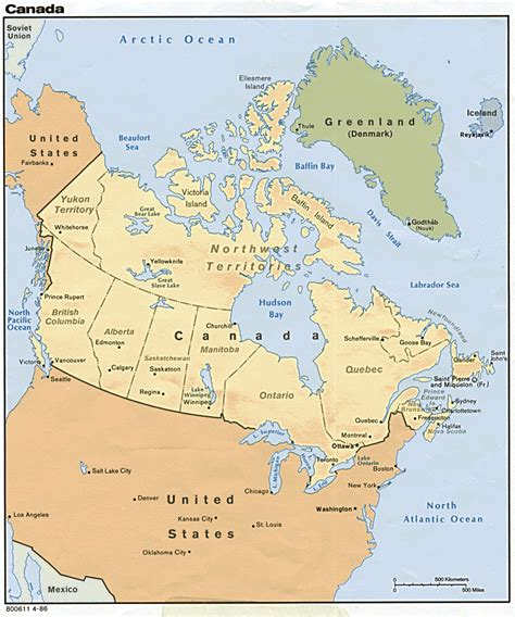 map usa canada nationmaster maps of canada 62 in total
