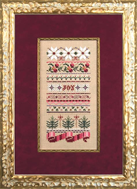 jn christmas ribbons counted thread cross stitch designs