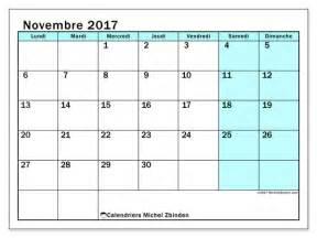 Calendrier 2018 Novembre Calendriers Novembre 2017 Ld