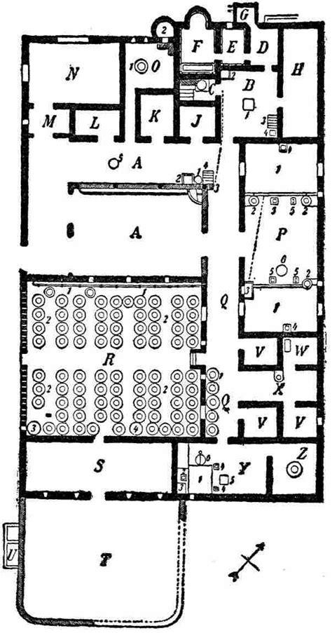 villa rustica floor plan the ten books on architecture