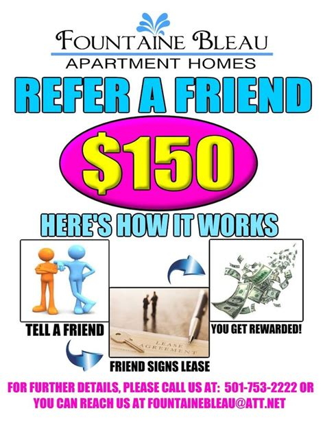 a referral flyer i made for our current residents refer