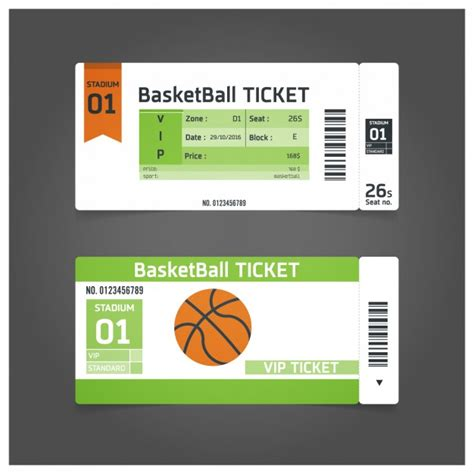 Basketball Match Ticket Template Vector Free Download Basketball Ticket Template Free