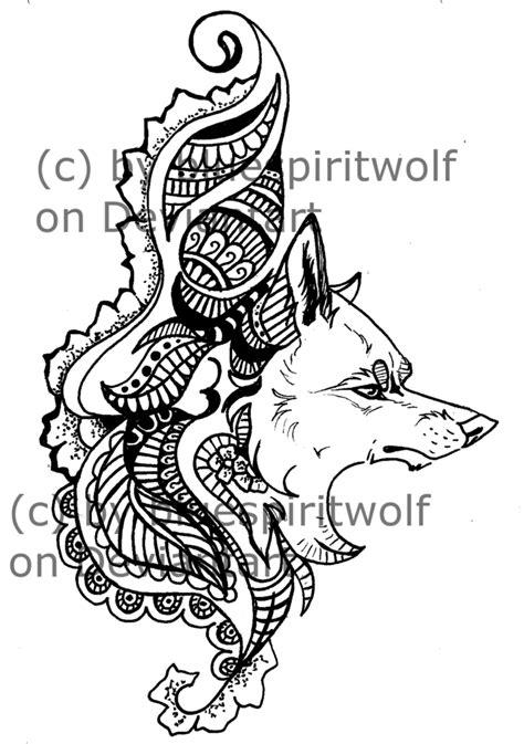 wolf henna tattoo designs henna wolf designs makedes