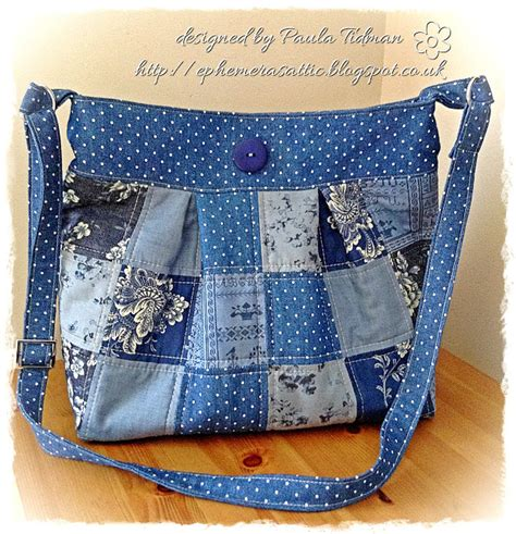 Patchwork Bag - ephemera s attic shabby patchwork bag