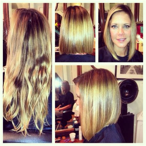 Pics Of A One Lenght Bob With Longer Front Pieces | long one length a line bob hair ideas pinterest