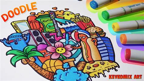 doodle vs doodle 3 random doodle doodles 8 copic markers