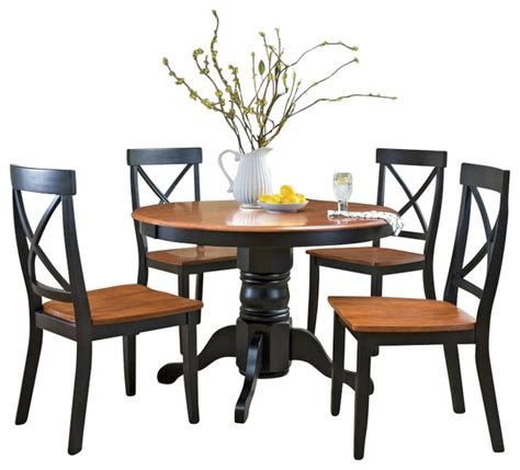 cottage kitchen table sets home styles 5 pedestal dining table set in
