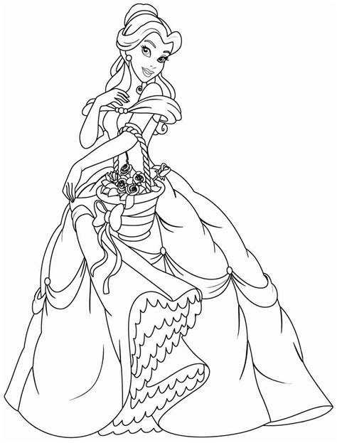 coloring pages of disney princess belle disney coloring pages belle az coloring pages
