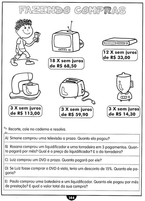 Blog Professor Zezinho : Atividades de Matemática (Reforço