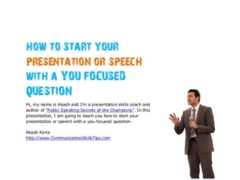 how to start your how to start your presentation speech with a question