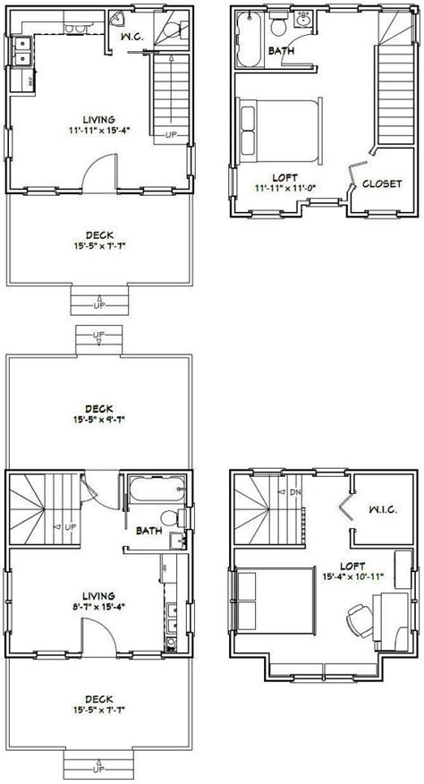 Floor Plans Of Houses 16x16 1bedroom Tiny Homes Pdf Floor Plans By Excellentfloorplans Cabins Pinterest Tiny