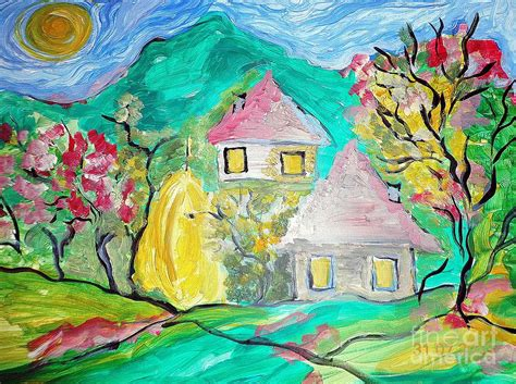 art dinca romanian beautiful landscape painting by farfallina art