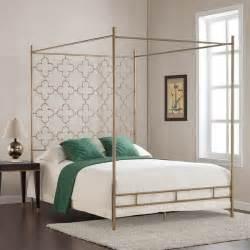 retro glitz quatrefoil queen canopy bed free shipping