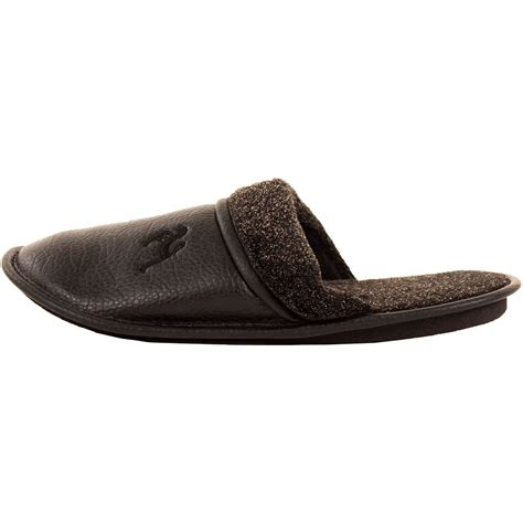 house shoes mens mens slippers slip on house shoes faux leather fleece