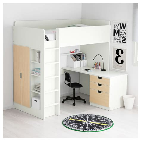 ikea bunk bed with desk large size of inspiring space loft bed with desk ikea hostgarcia