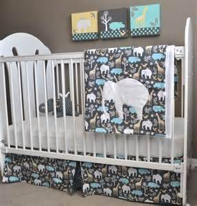 Crib Bedding Sets With Elephants Custom Order For Michael Miller Zoology Crib