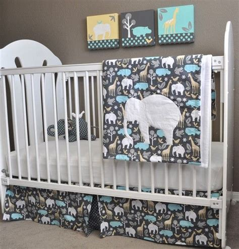 Elephant Baby Crib Bedding Custom Order For Michael Miller Zoology Crib Bedding And Paintings Set The