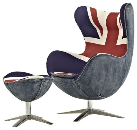 exclusive vintage egg chair replica with union print
